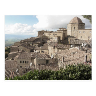 Cartão Postal Panorama da vila de Volterra, província de Pisa