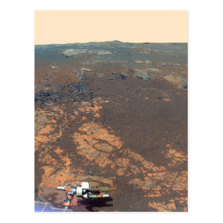 Cartão Postal Panorama do monte de Matijevic de Marte Rover