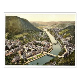 Cartão Postal Panorama, Ems (isto é, Ems mau), o Rhine, Alemanha
