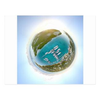 Cartão Postal Panorama minúsculo do planeta dos turcos e do