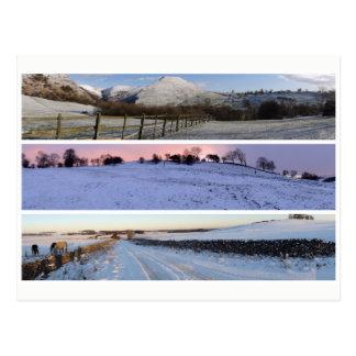 Cartão Postal Panoramas máximos da neve do distrito
