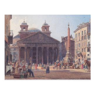 Cartão Postal Panteão de Rudolf von Alt e o della da praça