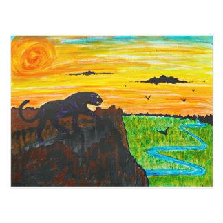 Cartão Postal Pantera no prowl