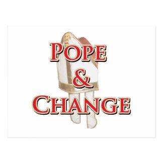Cartão Postal Papa e mudança