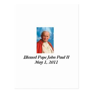 Cartão Postal Papa João Paulo II abençoado