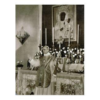 Cartão Postal Papa Pius XII, dizer massa