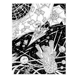 Cartão Postal Papagaio do espaço