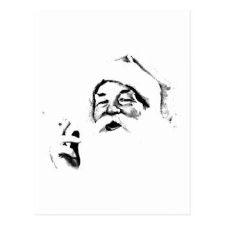 Cartão Postal Papai noel de fumo. Papai noel do vintage que fuma