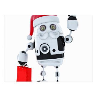 Cartão Postal Papai noel do robô