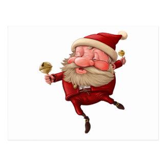Cartão Postal Papai Noel e a dança do sino