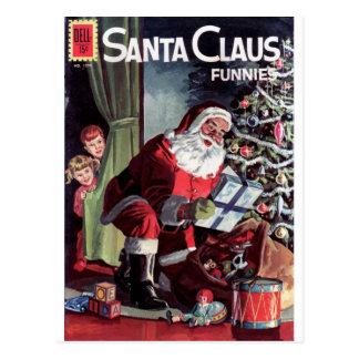 Cartão Postal Papai Noel Funnies