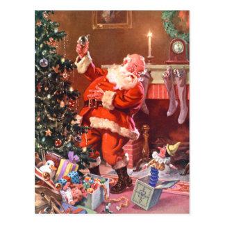 Cartão Postal Papai Noel na noite antes do Natal