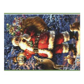 Cartão Postal Papai Noel tradicional