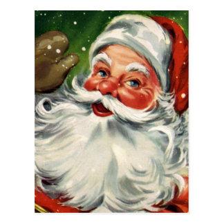 """Cartão Postal """"Papai noel tradicional do Natal """""""