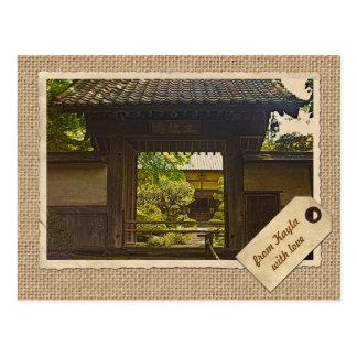 Cartão Postal Papel do vintage do templo de Kamakura Japão