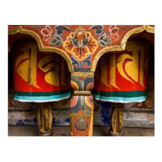 Cartão Postal Papel praying budista, bhutan