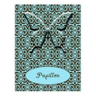 Cartão Postal Papillon - borboleta