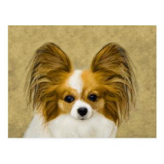 Cartão Postal Papillon (tri cor do cão)