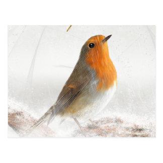 Cartão Postal Papo-roxo do chá de neve