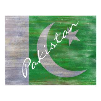 Cartão Postal Paquistão afligiu a bandeira paquistanesa