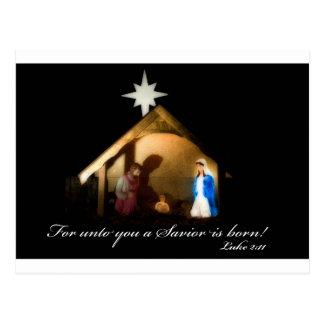 Cartão Postal para até você um salvador é nascido