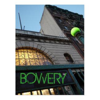 Cartão Postal Para baixo no Bowery