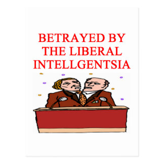 Cartão Postal para democratas insultadas;