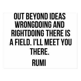 Cartão Postal Para fora além das ideias… Rumi