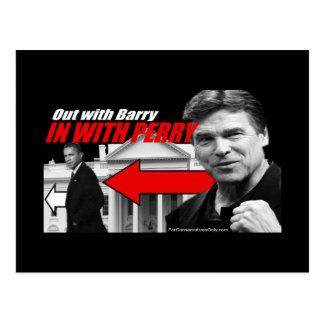 Cartão Postal Para fora com Barry - dentro com Perry