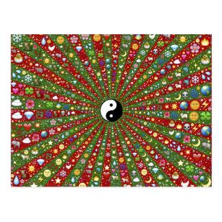 Cartão Postal Para fora Hippie distante Yin Tang