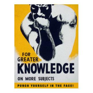 Cartão Postal Para o maior conhecimento