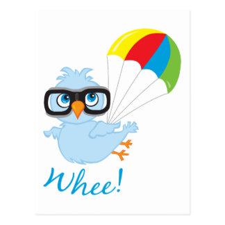 Cartão Postal Pára-quedas de Birdy