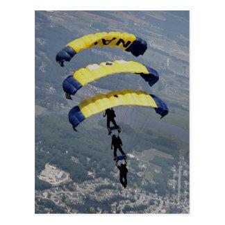 Cartão Postal Pára-quedas de Skydiving