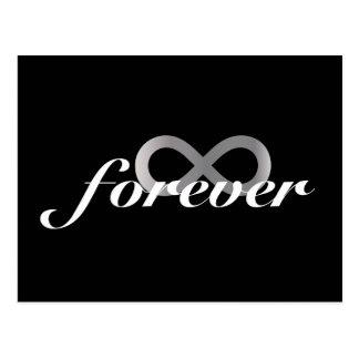 Cartão Postal Para sempre com símbolo da infinidade