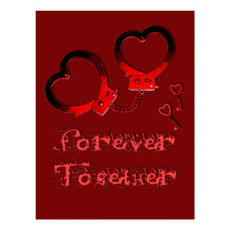 Cartão Postal Para sempre junto o design do dia dos namorados