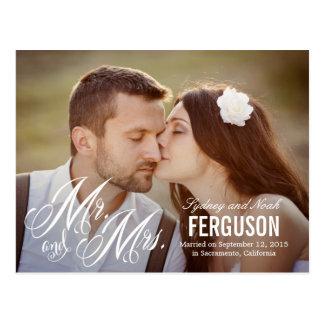 Cartão Postal Para sempre nós anúncio do casamento - branco