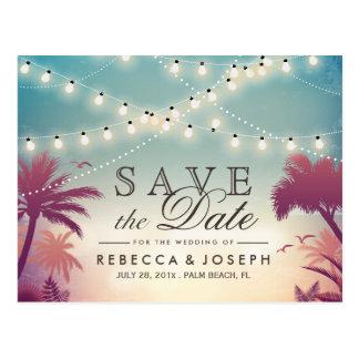 Cartão Postal (para USPS) as luzes da corda do Palm Beach salvar