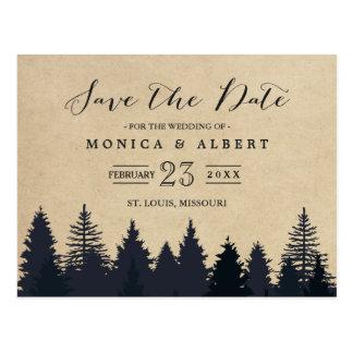 Cartão Postal (para USPS) os pinheiros rústicos de Kraft salvar