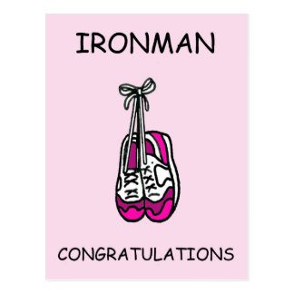 Cartão Postal Parabéns da fêmea de Ironman