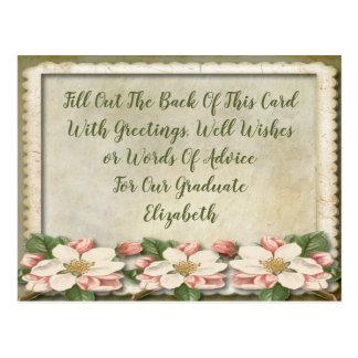 Cartão Postal Parabéns da festa de formatura do vintage,