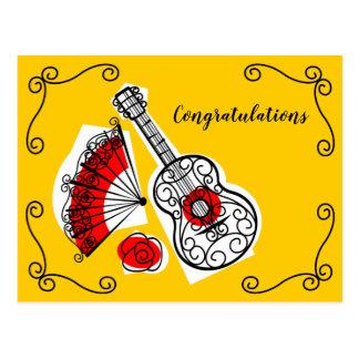 Cartão Postal Parabéns espanhóis dos cantos das lembranças