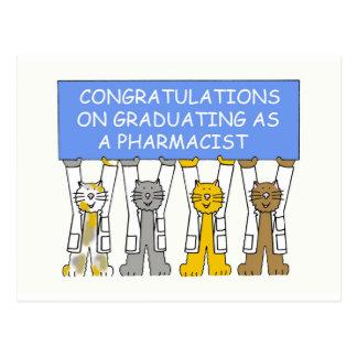 Cartão Postal Parabéns na graduação como um farmacêutico