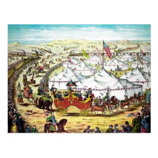 Cartão Postal Parada do circo do vintage