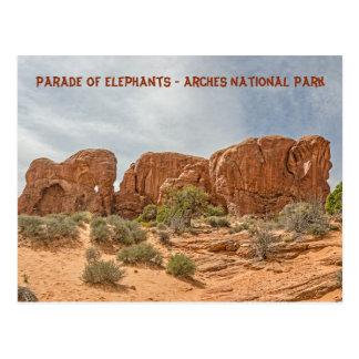 Cartão Postal Parada dos elefantes - parque nacional dos arcos