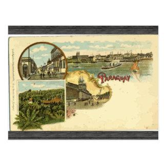 Cartão Postal Paraguai, vintage