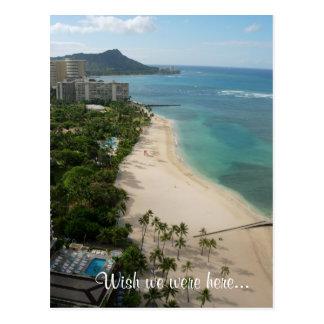 Cartão Postal Paraíso de Waikiki, desejo nós estávamos aqui…