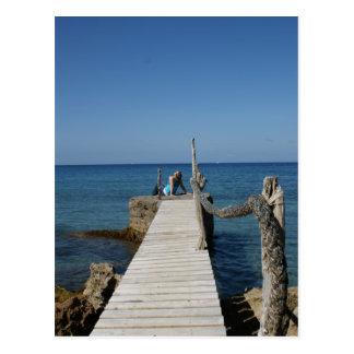 Cartão Postal Paraíso do passeio à beira mar