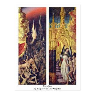 Cartão Postal Paraíso por Rogier van der Weyden