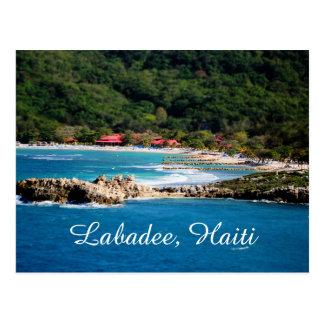 Cartão Postal Paraíso tranquilo Labadee Haiti da ilha