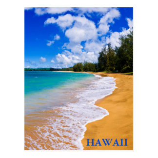 Cartão Postal Paraíso tropical da praia, Havaí